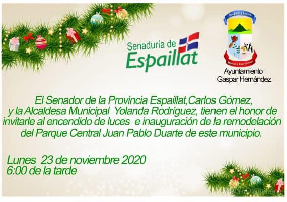 El Senador de la Provincia Espaillat Carlos Gómez y la Alcaldesa Yolanda Rodríguez